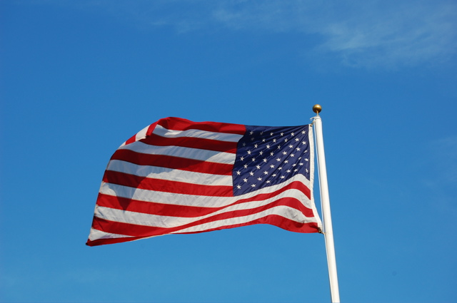 American Flag over America's Camp